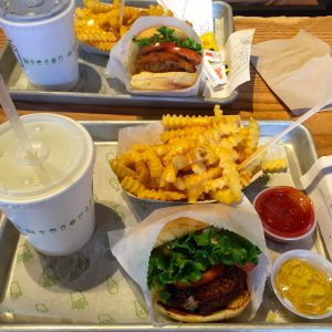 shake shack, burger, hamburger, fries, cheese fries, las vegas, nevada, usa, fast food