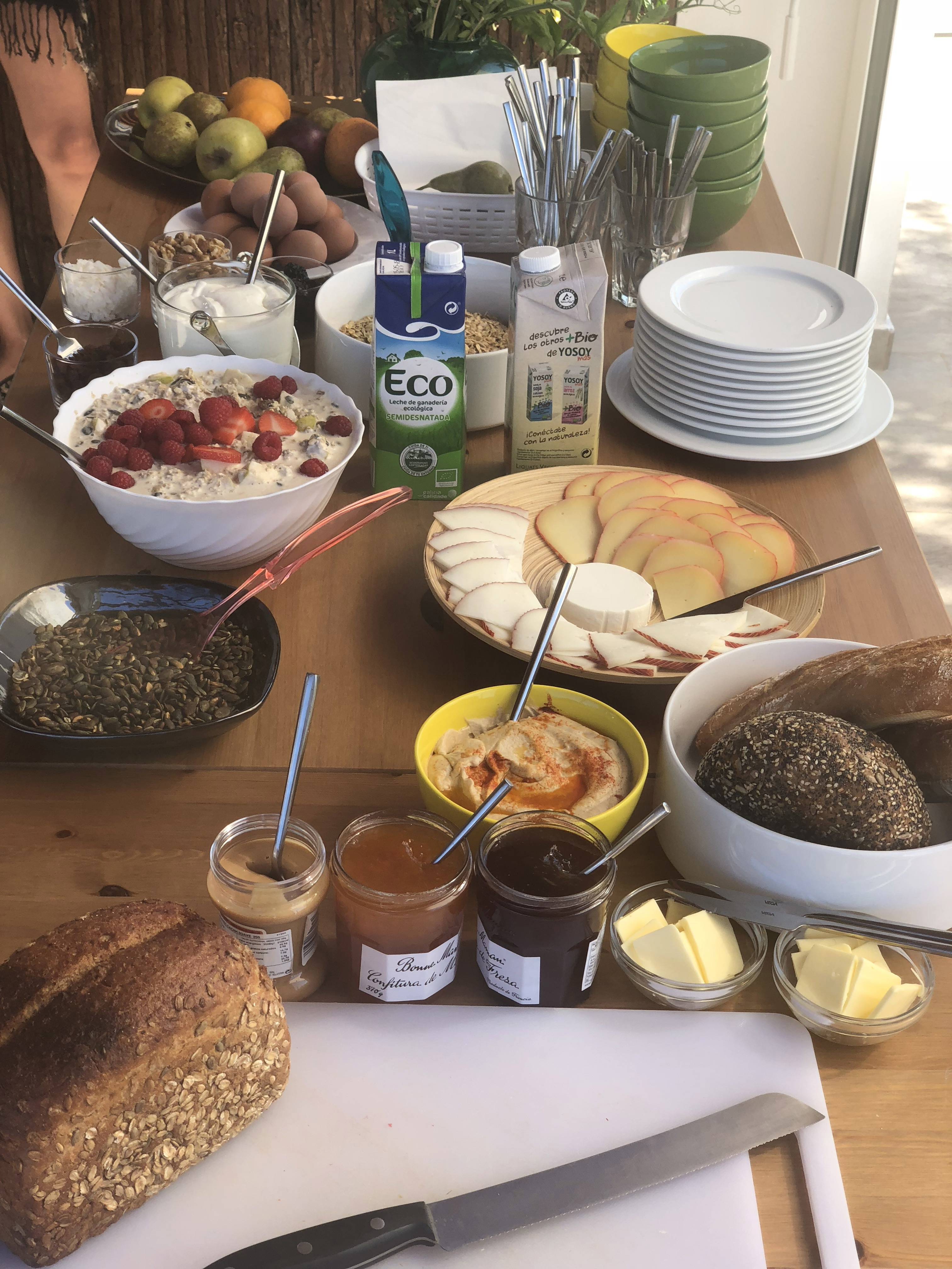 petit dejeuner ; breakfast ; healthy breakfast ; ibiza vegan ; vegetarian ; granola